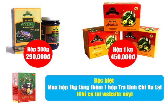 Bảng gia cao Atiso Ngọc Duy