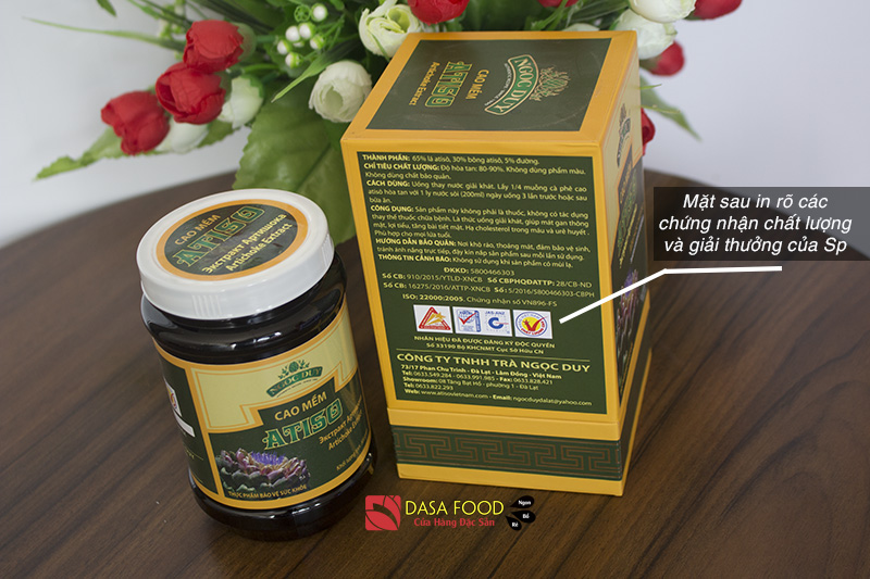 Cao Atiso Ngọc Duy 500g mặt sau